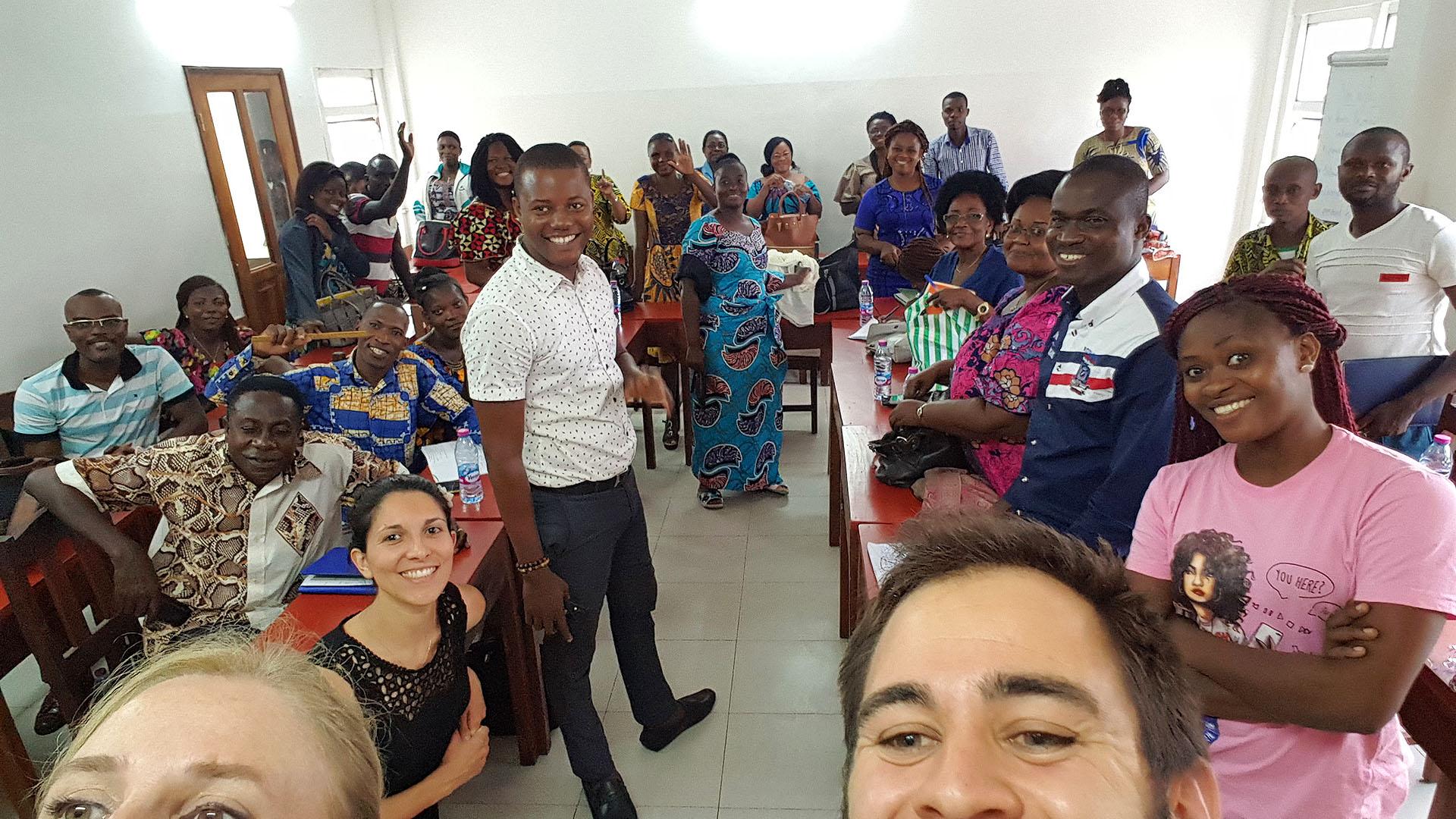 Un jour de la formation Ana-Nour, avec 35 enseignants togolais