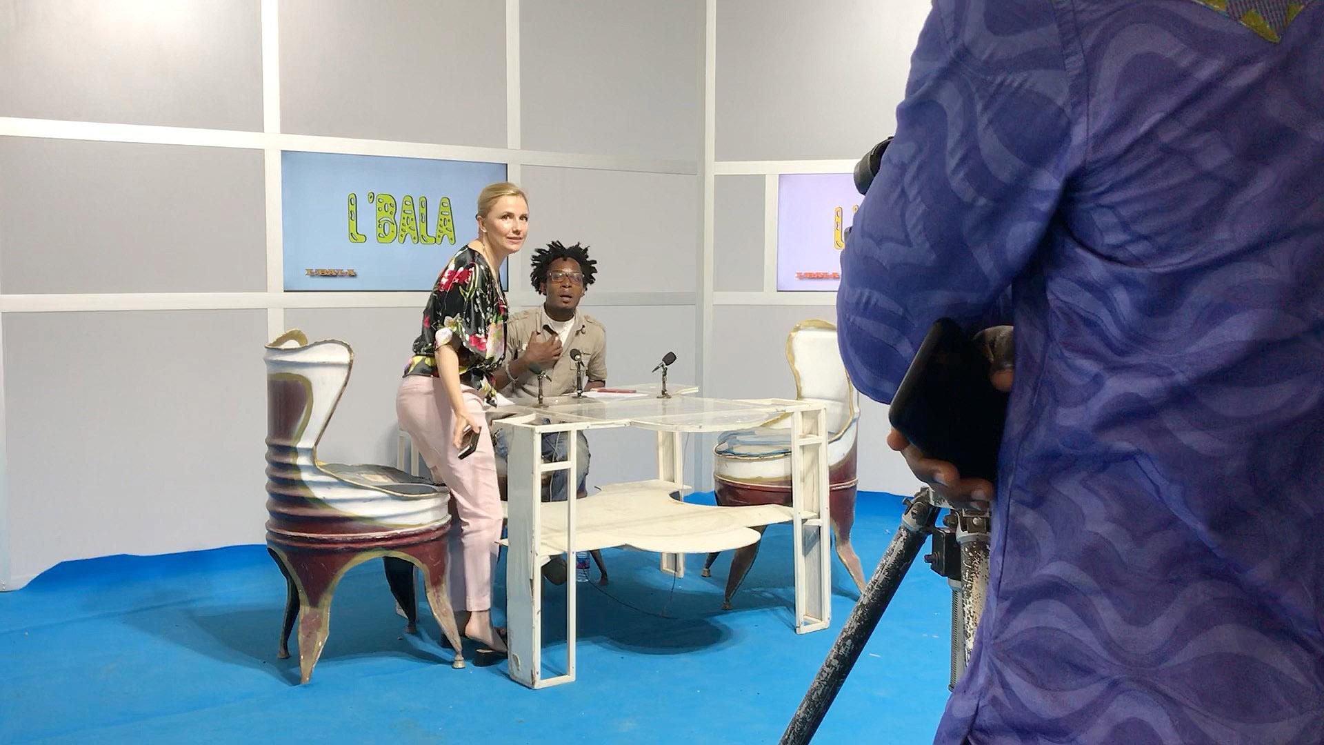 Studio de l'émission L'Bala pour le passage de l'association Ana-Nour sur la chaine nationale togolaise TVT