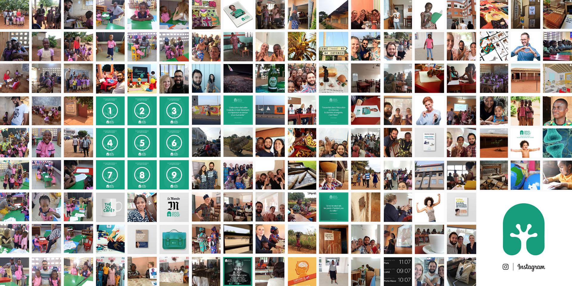 Le compte Instagram de l'association Ana-Nour, 47 jours après son lancement : 153 posts !