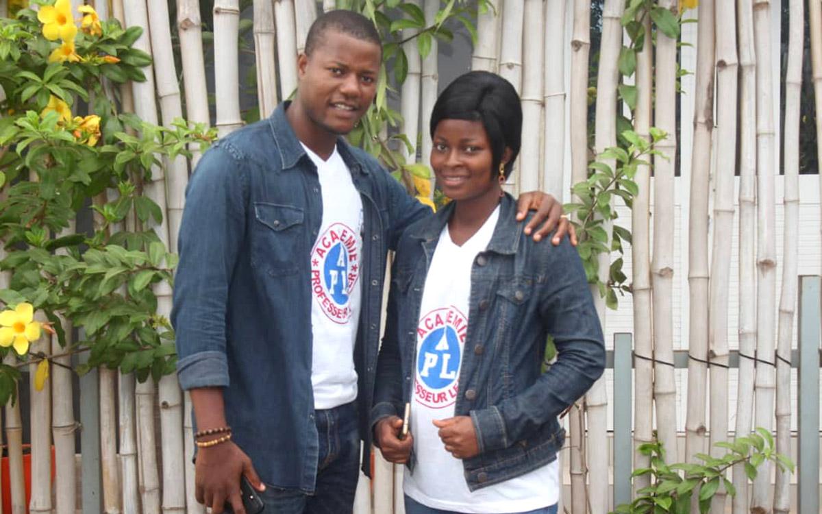Atideka Soke et son épouse Julienne lors de la formation Ana-Nour cet été 2019 à Lomé.