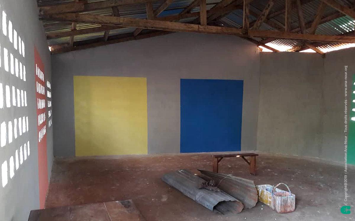 Ana-Nour : Construction d'une classe dans le Complexe scolaire Ulysse (Togo).