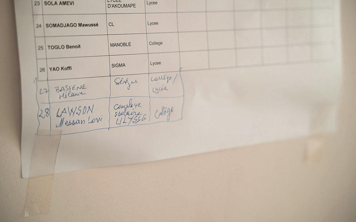 Une liste de participants qui s'allonge.