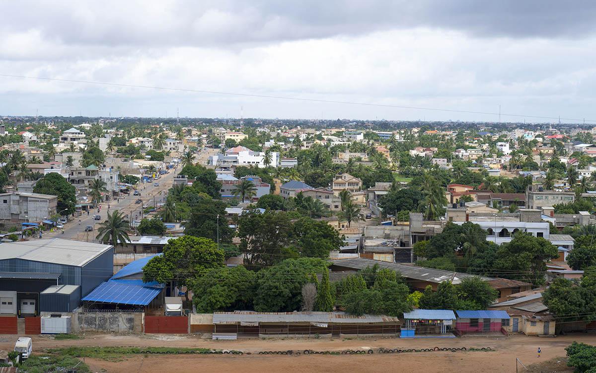 Panoramique sur Lomé, capitale du Togo.