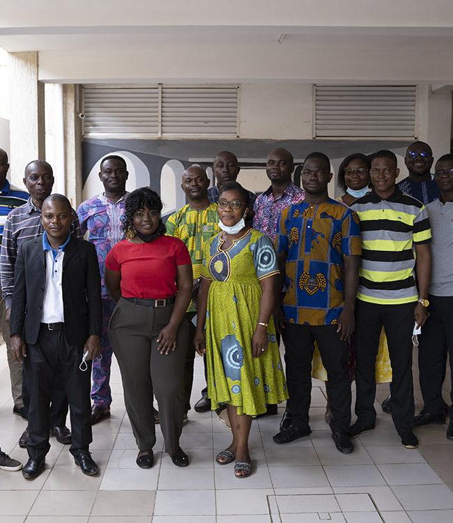 Jean-Luc Berthier a encadré un groupe d'enseignants de collèges/lycées lors de la formation Ana-Nour au Togo